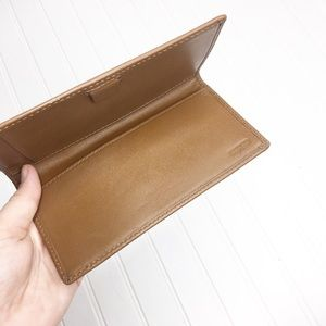 Coach | Leather Checkbook Holder